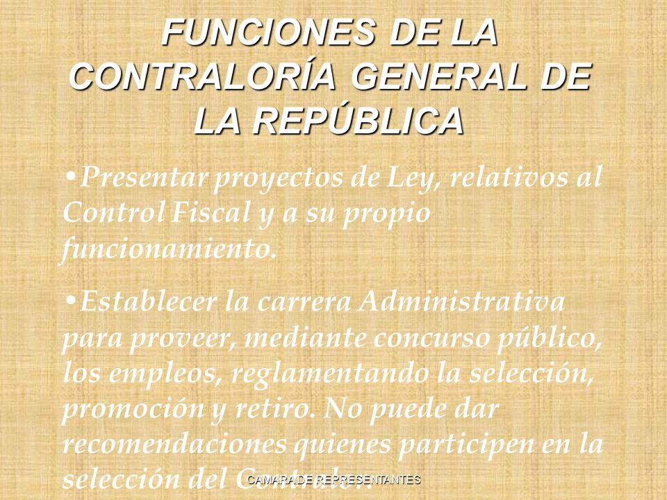 FUNCIONES DE LA CONTRALORÍA GENERAL DE LA REPÚBLICA