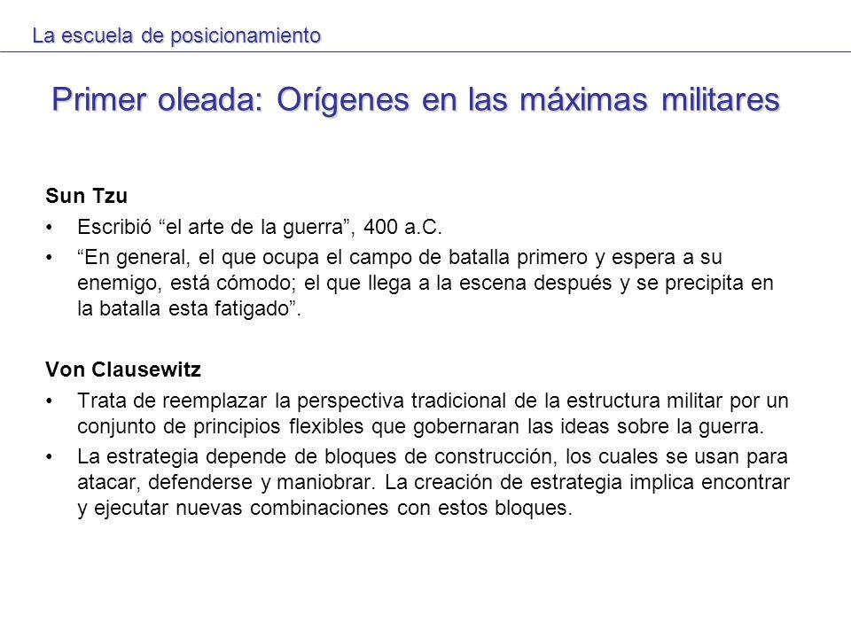 Primer oleada: Orígenes en las máximas militares