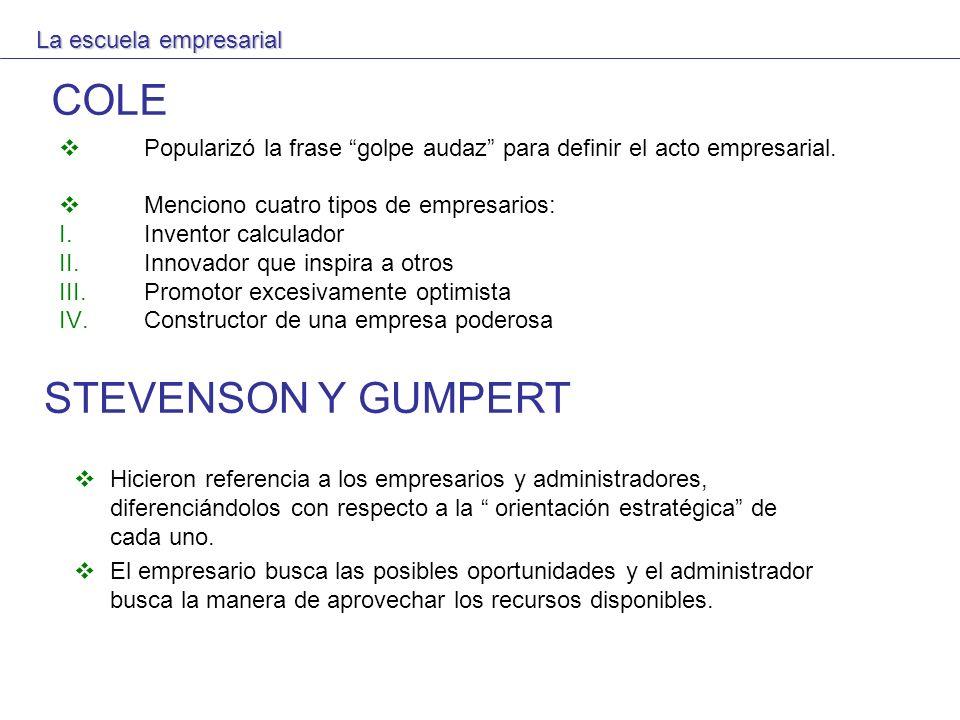 COLE STEVENSON Y GUMPERT La escuela empresarial