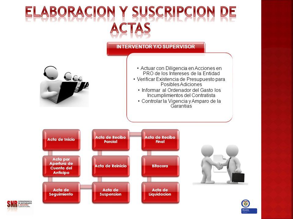 ELABORACION Y SUSCRIPCION DE ACTAS