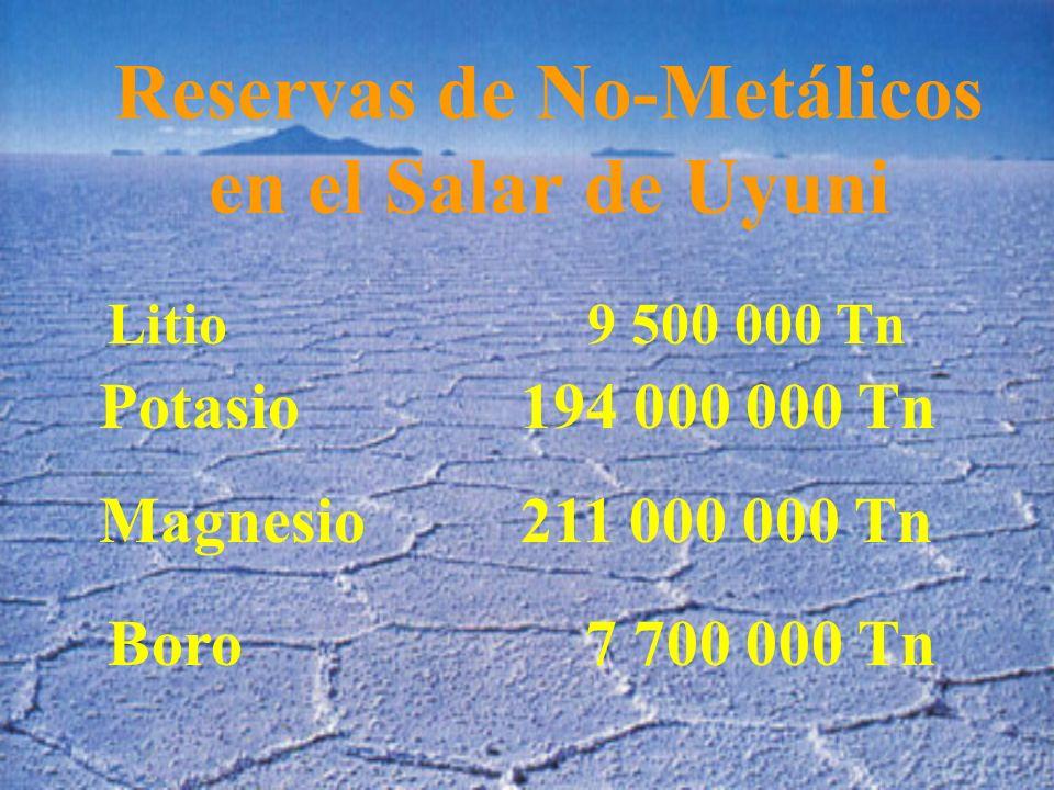 Reservas de No-Metálicos en el Salar de Uyuni