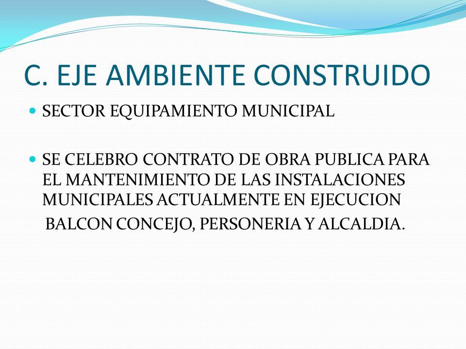 C. EJE AMBIENTE CONSTRUIDO
