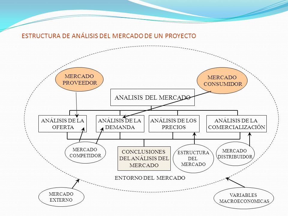 ESTRUCTURA DE ANÁLISIS DEL MERCADO DE UN PROYECTO