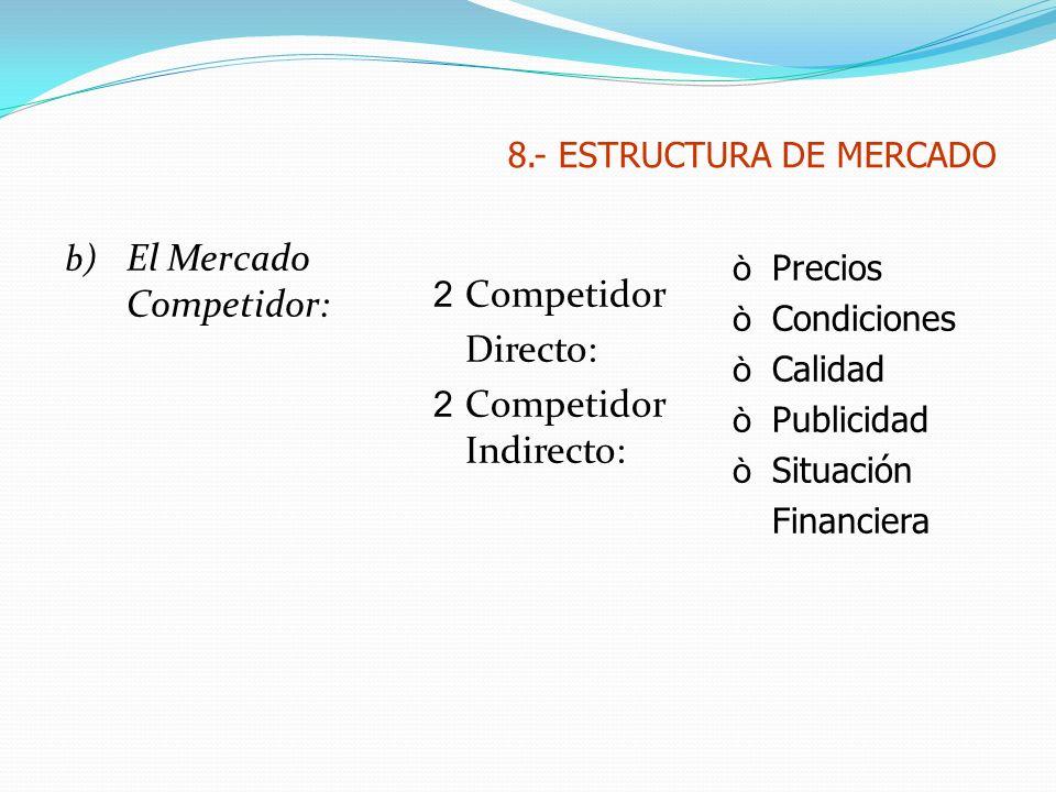 8.- ESTRUCTURA DE MERCADO