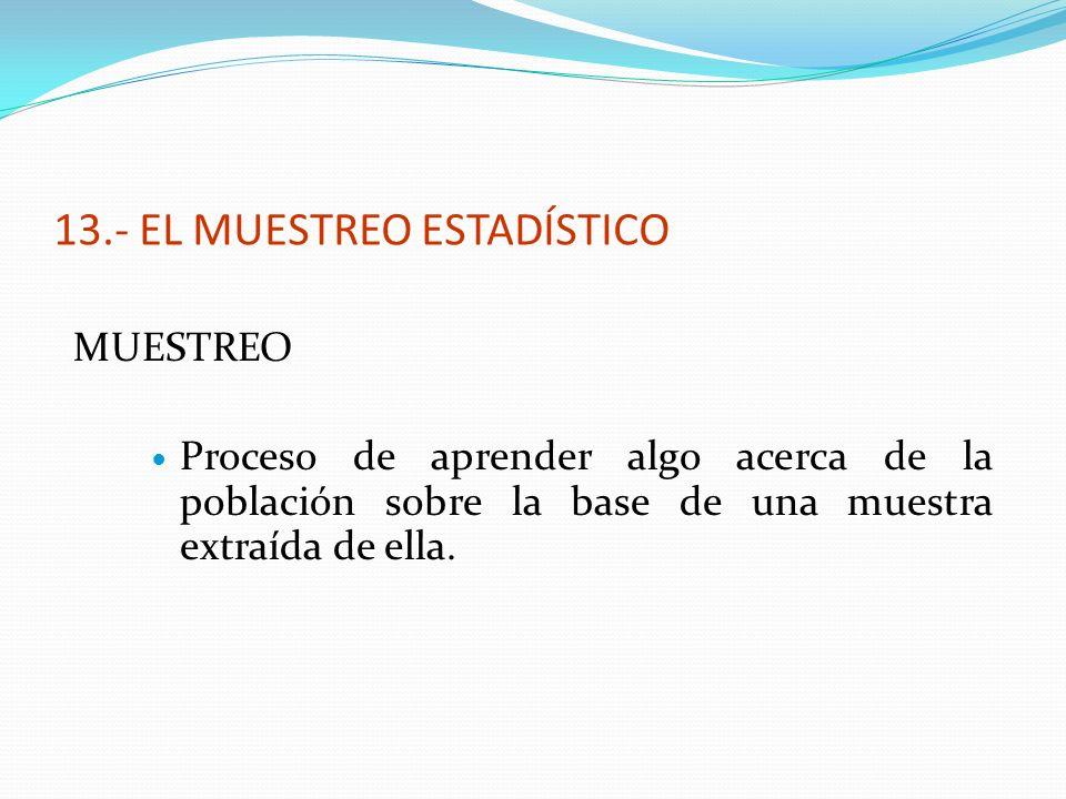 13.- EL MUESTREO ESTADÍSTICO