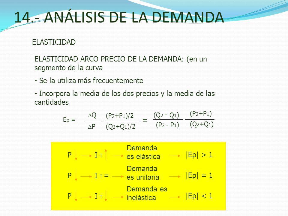 14.- ANÁLISIS DE LA DEMANDA