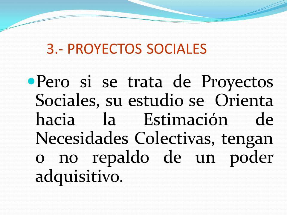 3.- PROYECTOS SOCIALES