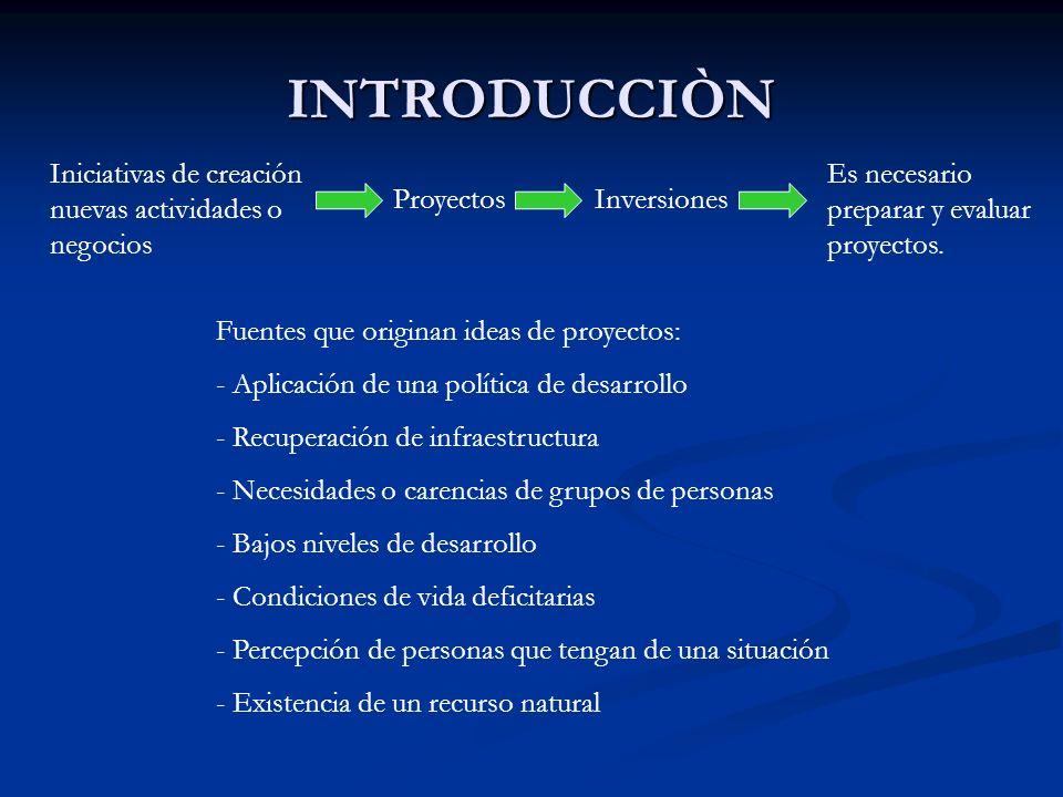 INTRODUCCIÒN Iniciativas de creación nuevas actividades o negocios