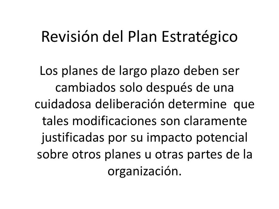 Revisión del Plan Estratégico