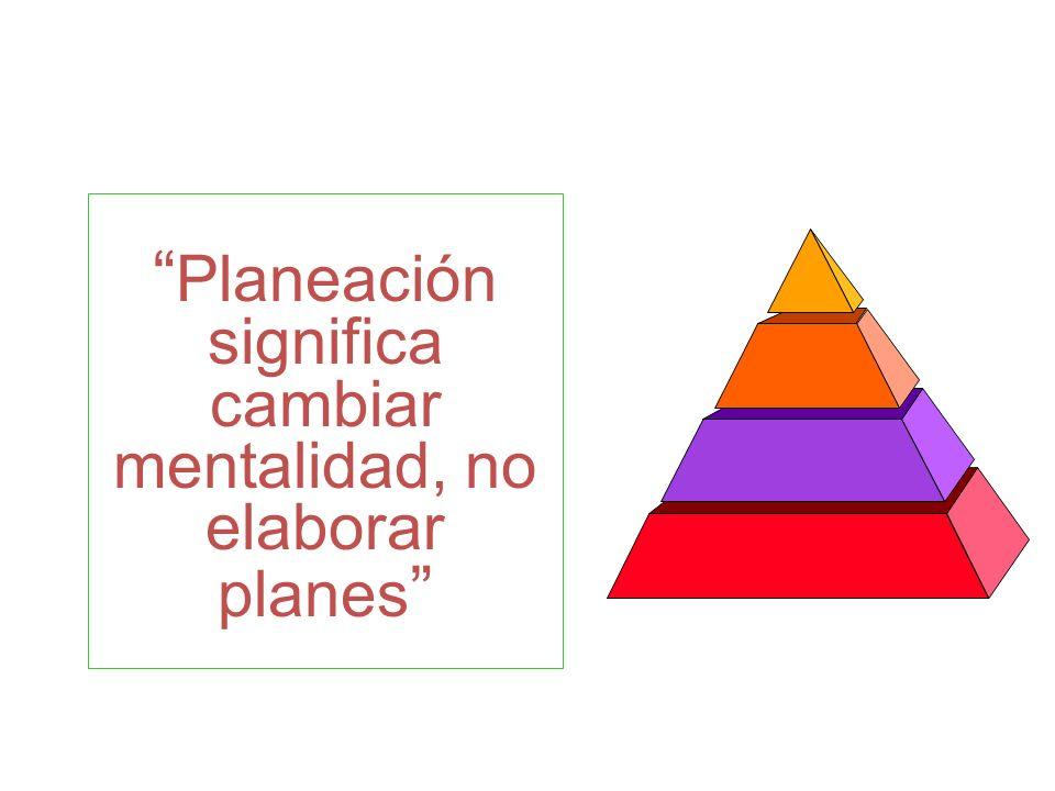 Planeación significa cambiar mentalidad, no elaborar planes