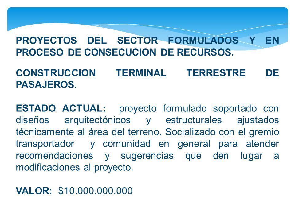CONSTRUCCION TERMINAL TERRESTRE DE PASAJEROS.