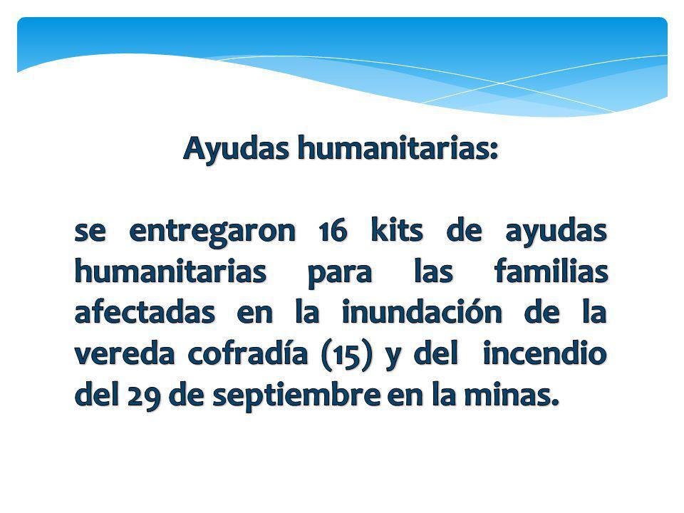 Ayudas humanitarias:
