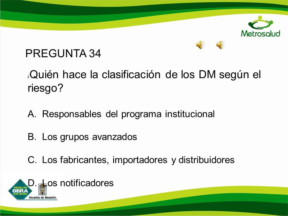 PREGUNTA 34 Responsables del programa institucional