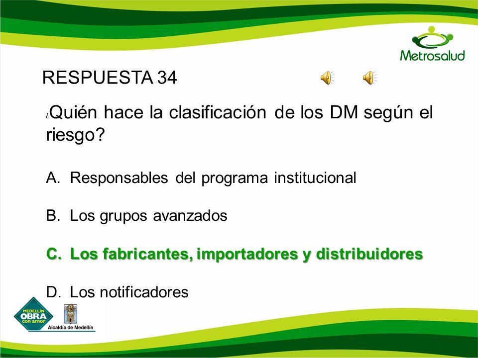 RESPUESTA 34 Responsables del programa institucional