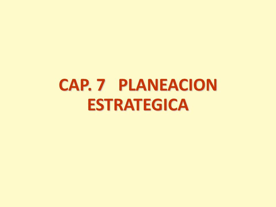 CAP. 7 PLANEACION ESTRATEGICA