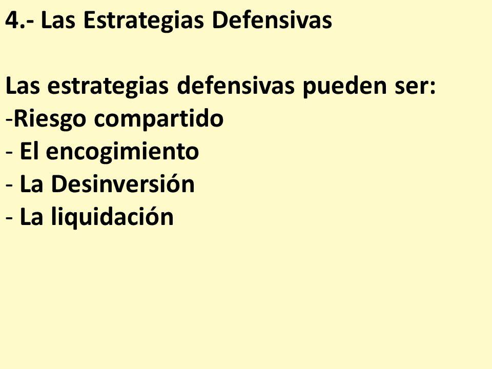 4.- Las Estrategias Defensivas