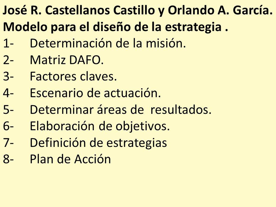 José R. Castellanos Castillo y Orlando A. García.