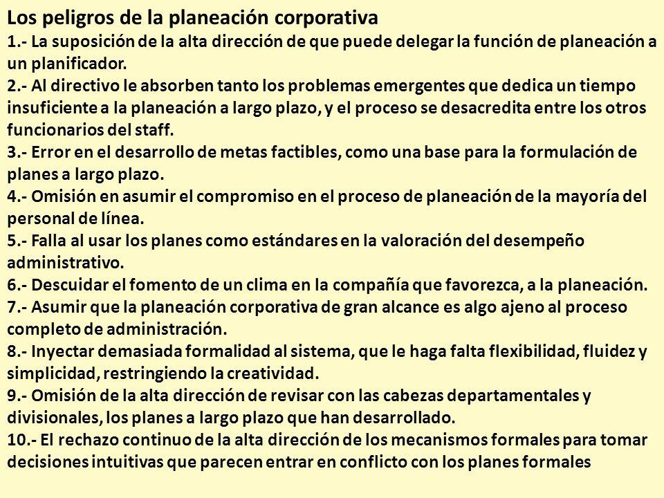 Los peligros de la planeación corporativa