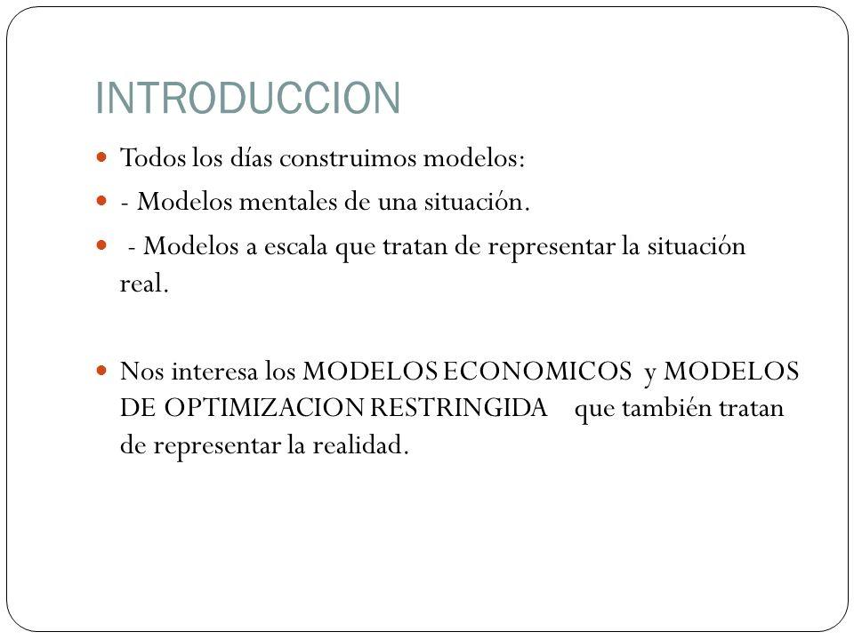 INTRODUCCION Todos los días construimos modelos: