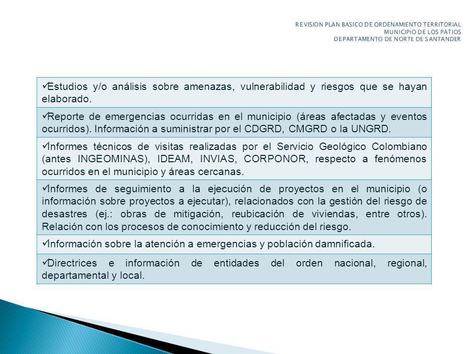 Información sobre la atención a emergencias y población damnificada.