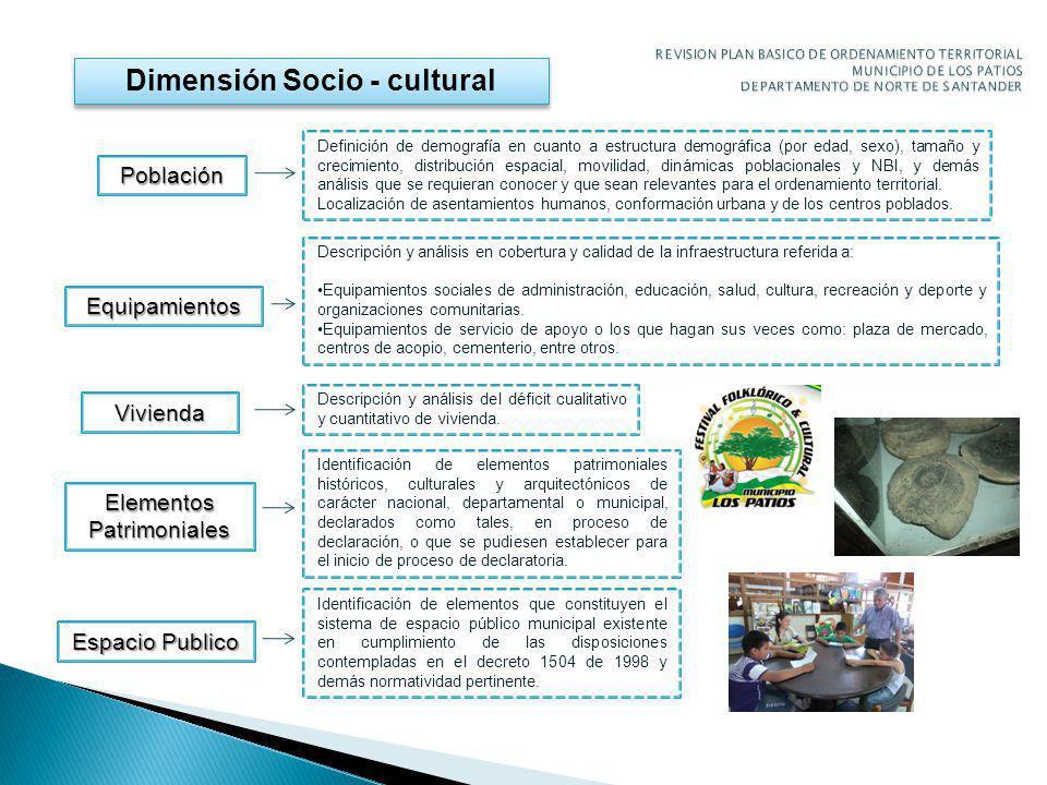 Dimensión Socio - cultural