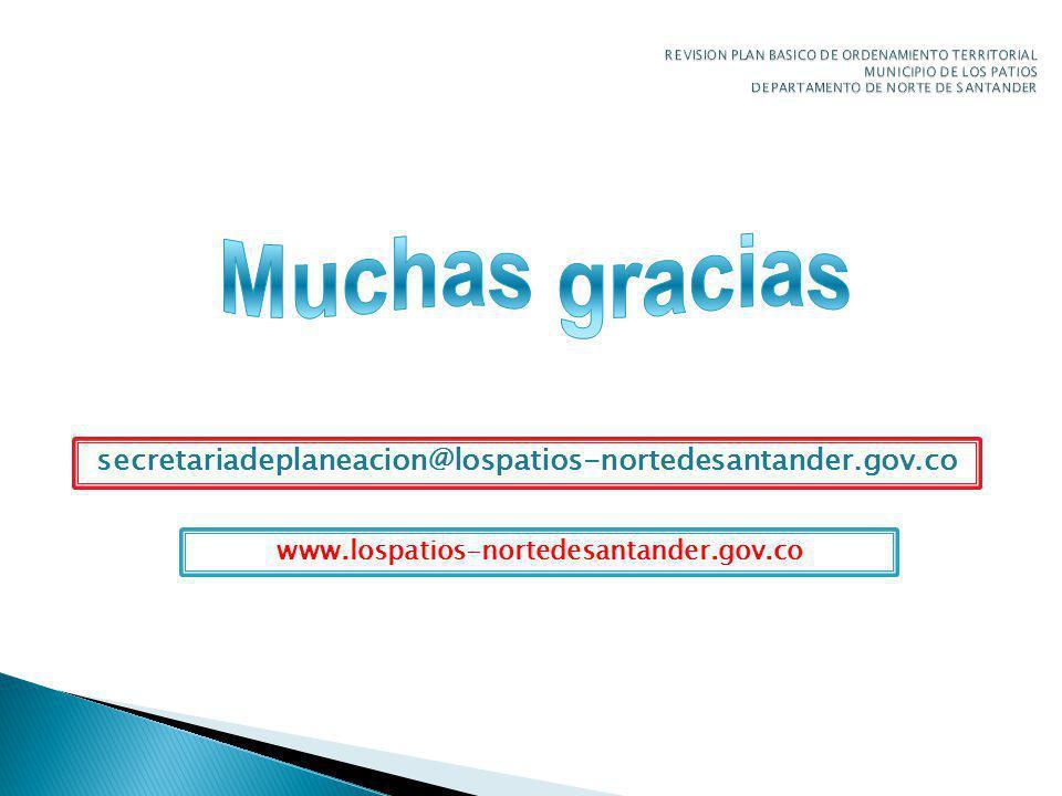 REVISION PLAN BASICO DE ORDENAMIENTO TERRITORIAL MUNICIPIO DE LOS PATIOS DEPARTAMENTO DE NORTE DE SANTANDER