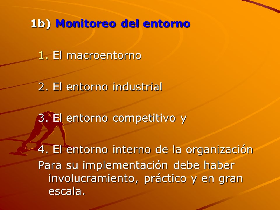 1b) Monitoreo del entorno