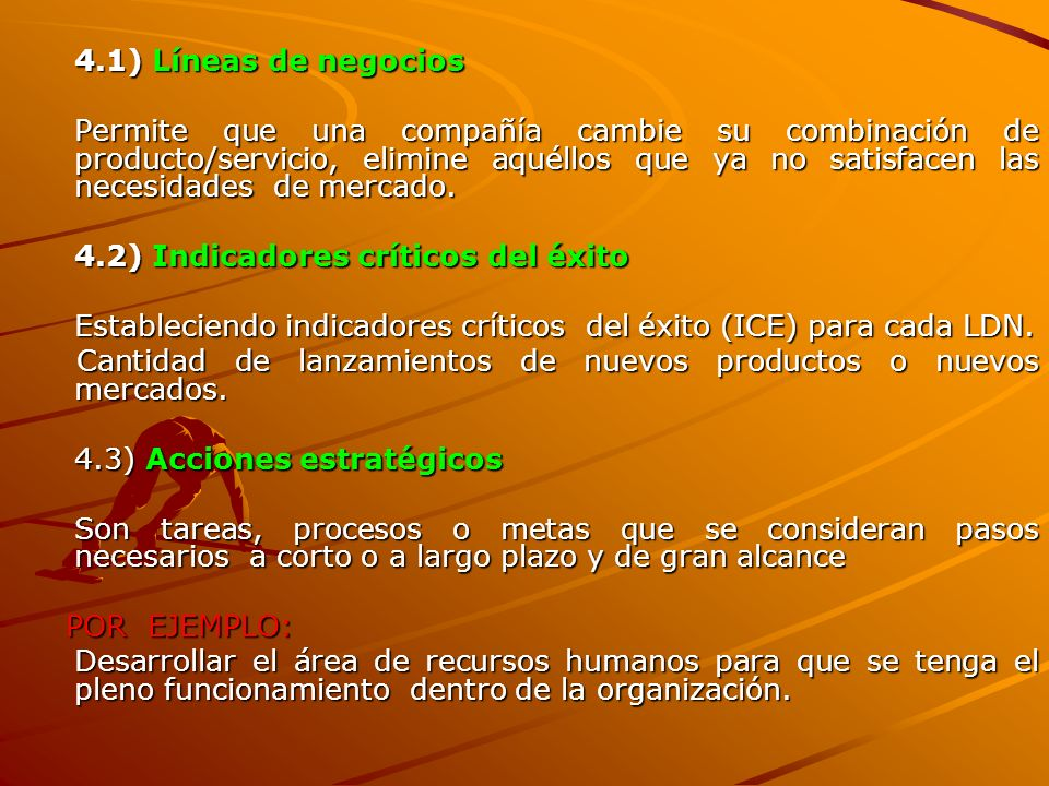 4.1) Líneas de negocios