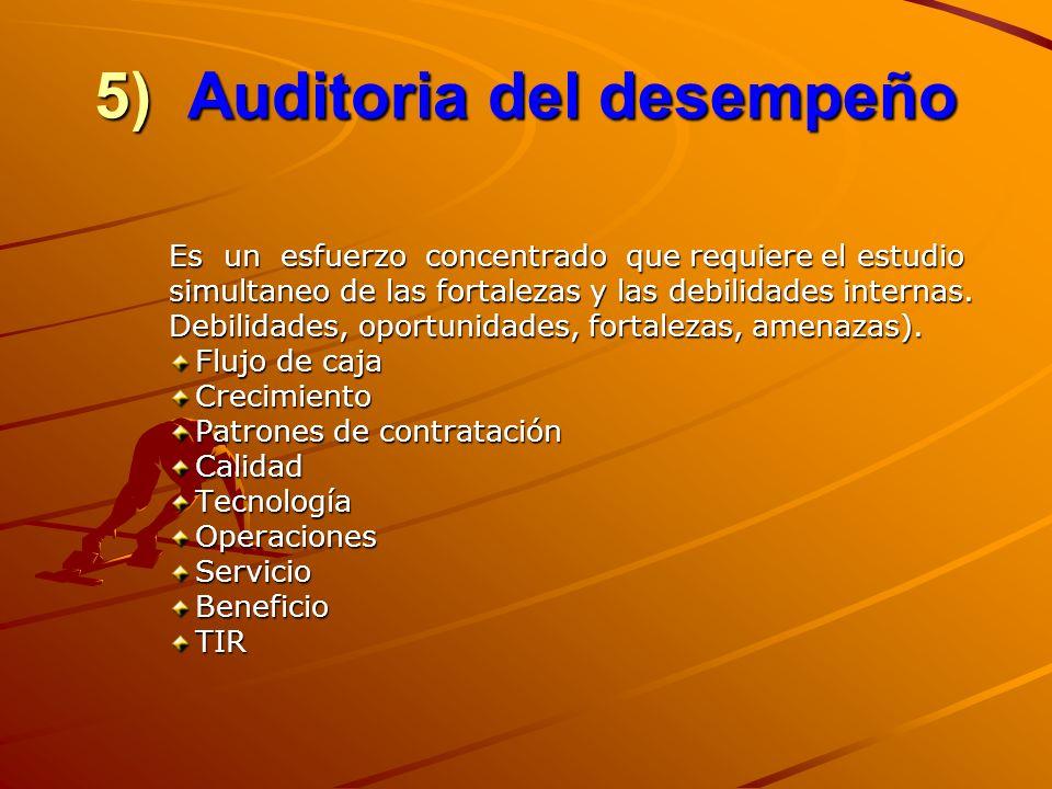 5) Auditoria del desempeño