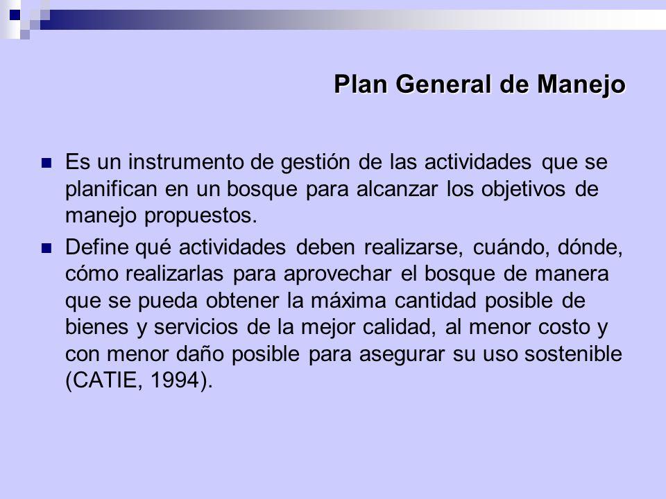 Plan General de Manejo