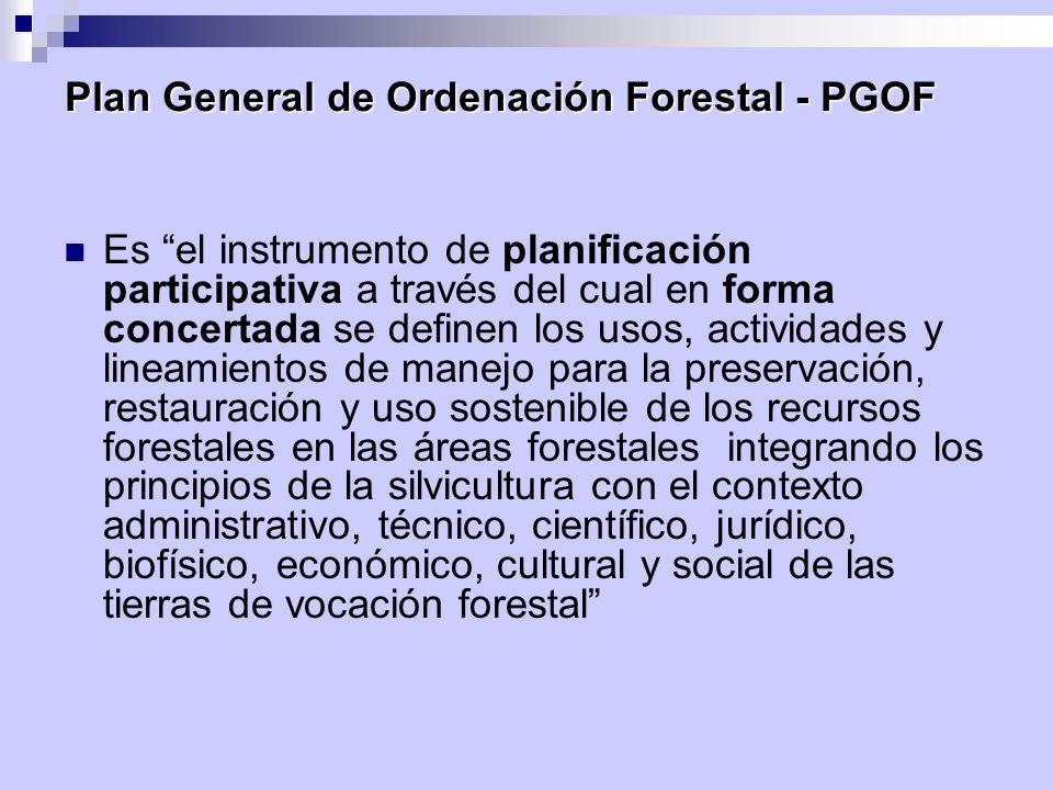 Plan General de Ordenación Forestal - PGOF