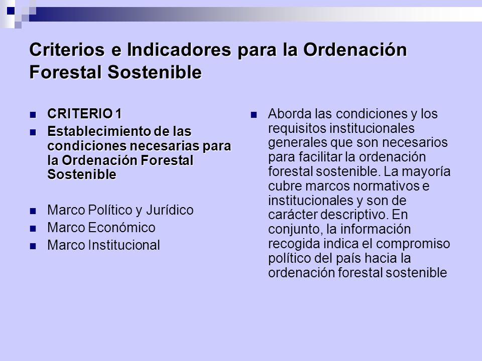 Criterios e Indicadores para la Ordenación Forestal Sostenible