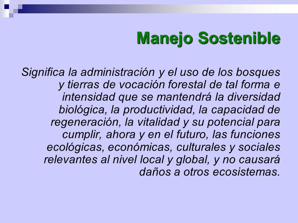 Manejo Sostenible