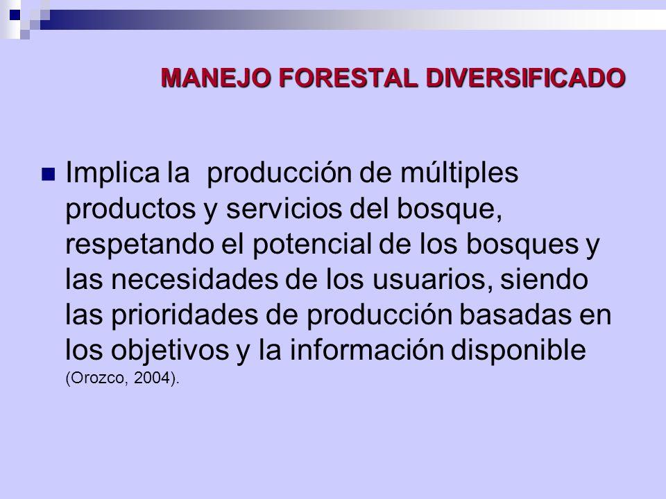 MANEJO FORESTAL DIVERSIFICADO