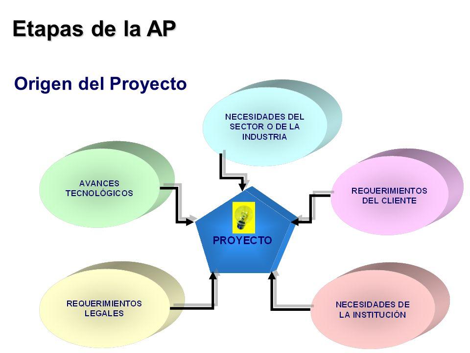 Etapas de la AP Origen del Proyecto
