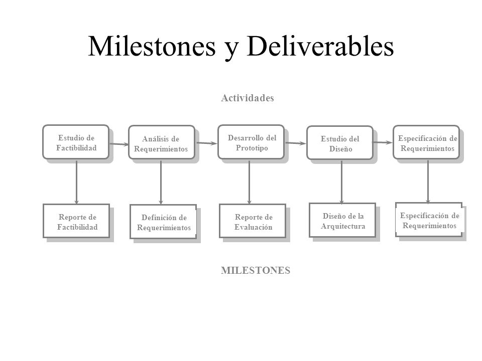 Milestones y Deliverables