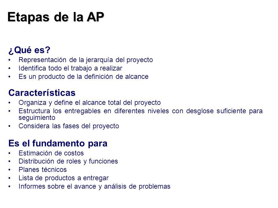 Etapas de la AP ¿Qué es Características Es el fundamento para