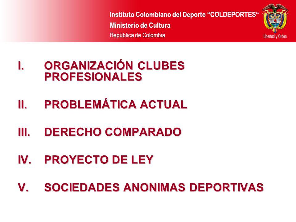 ORGANIZACIÓN CLUBES PROFESIONALES