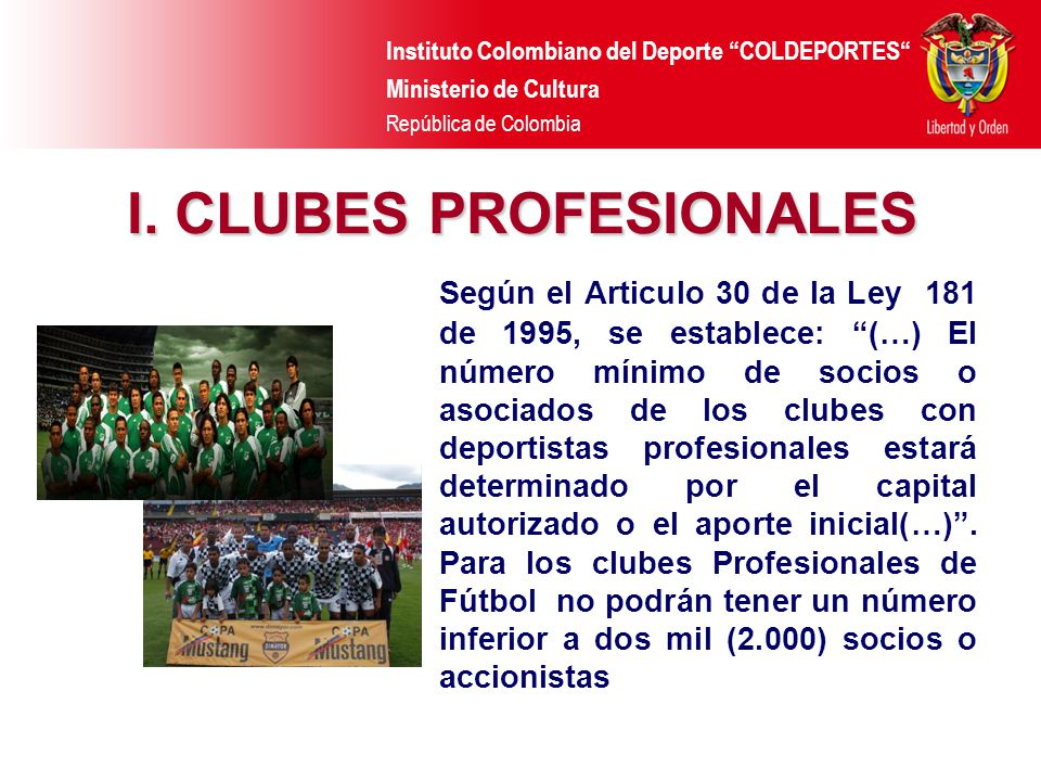 I. CLUBES PROFESIONALES