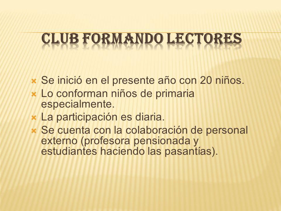 CLUB FORMANDO LECTORES