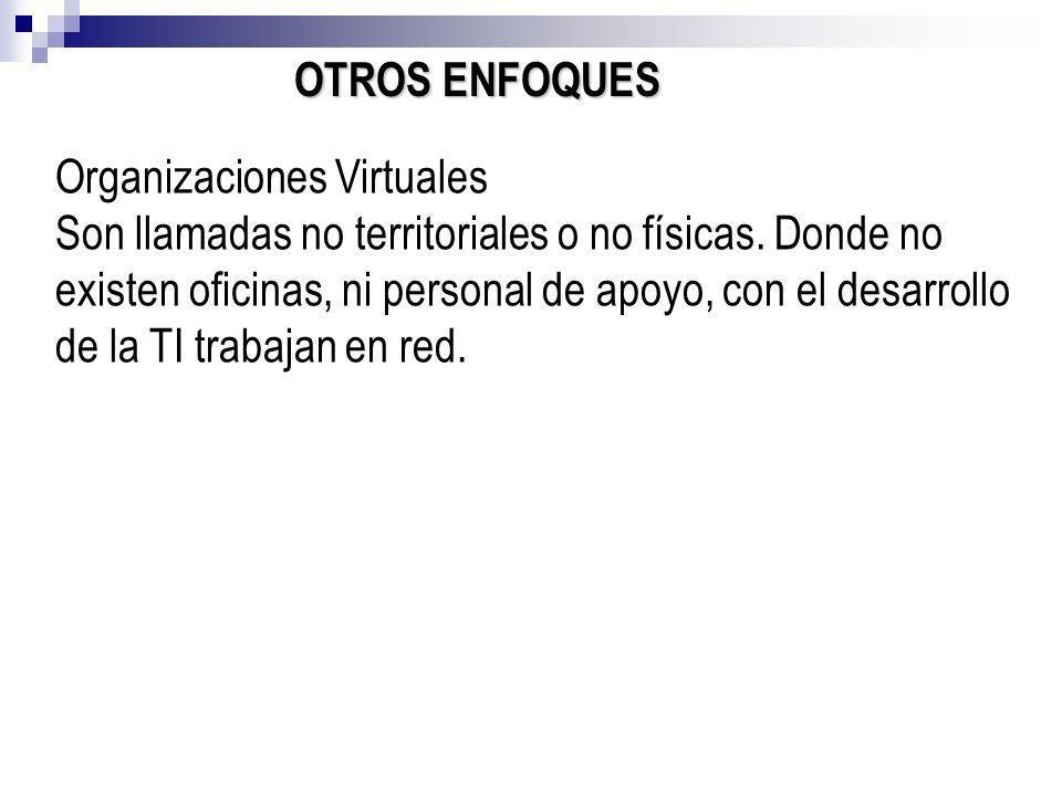 OTROS ENFOQUES Organizaciones Virtuales.