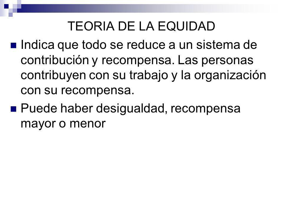 TEORIA DE LA EQUIDAD
