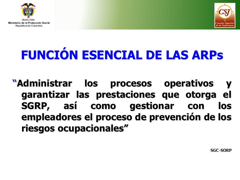 FUNCIÓN ESENCIAL DE LAS ARPs