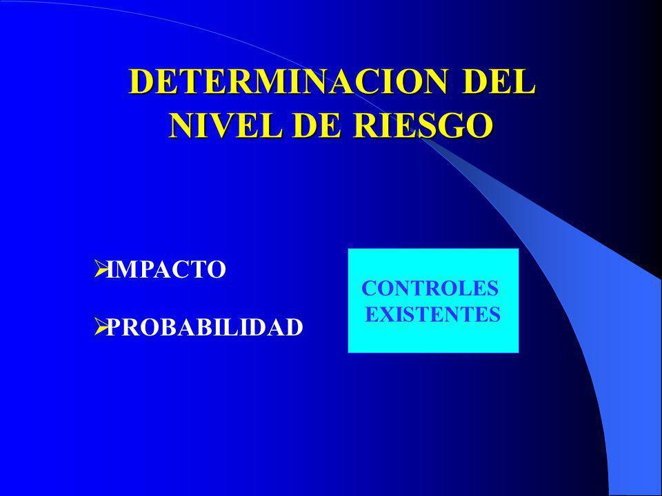 DETERMINACION DEL NIVEL DE RIESGO