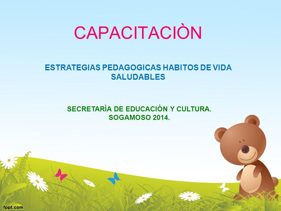 CAPACITACIÒN ESTRATEGIAS PEDAGOGICAS HABITOS DE VIDA SALUDABLES