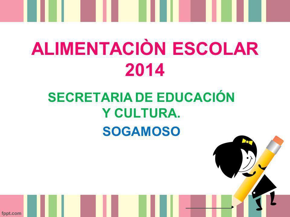 SECRETARIA DE EDUCACIÓN Y CULTURA. SOGAMOSO