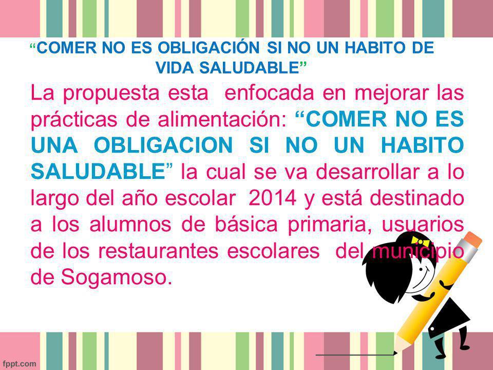 COMER NO ES OBLIGACIÓN SI NO UN HABITO DE VIDA SALUDABLE