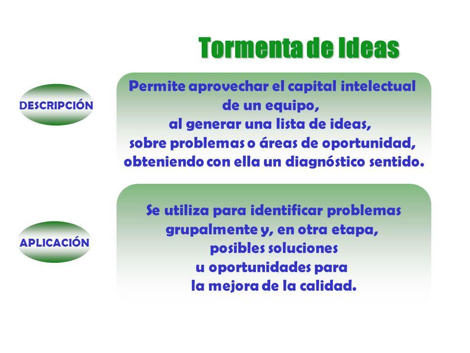 Tormenta de Ideas Permite aprovechar el capital intelectual