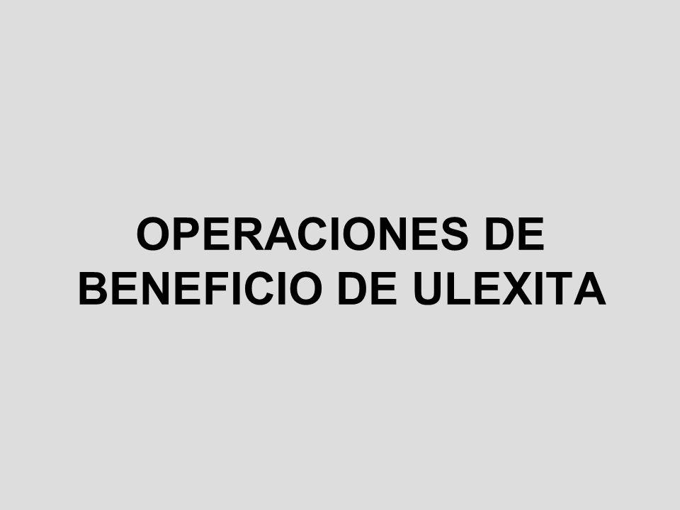 OPERACIONES DE BENEFICIO DE ULEXITA