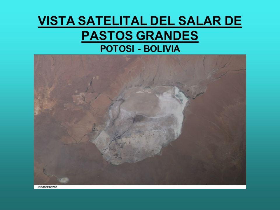 VISTA SATELITAL DEL SALAR DE PASTOS GRANDES POTOSI - BOLIVIA